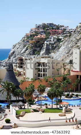Condos and apartments in Cabo San Lucas, Mexico - stock photo