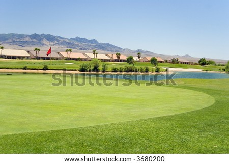 Condos overlooking a beautiful golf course
