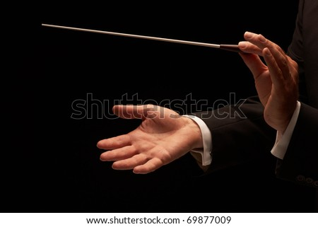 conductor conducting an...