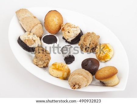 confectionery / cookie / white background Stok fotoğraf ©