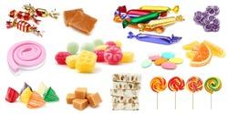Confectionery set isolated on white