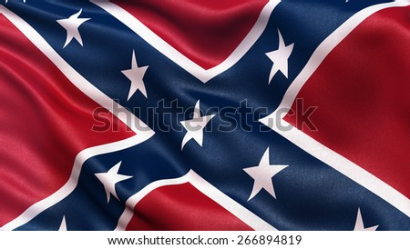 Confederate Battle Flag or St Andrews Cross waving in the wind.  Сток-фото ©