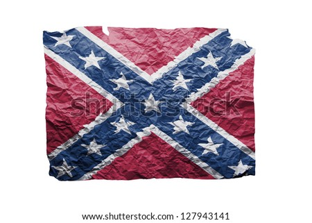 Confederate flag on paper