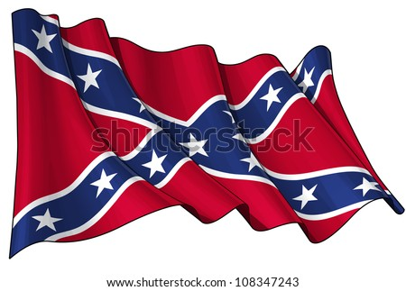 Confederate Rebel flag - stock photo