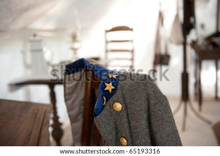Confederate Solider Uniform at Oak Alley Plantation