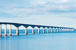 Confederation bridge linking the provinces of New Brunswick and Prince Edward island