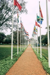 Conference room in the United Nations Organization (UNO) building in Kenya, Nairobi