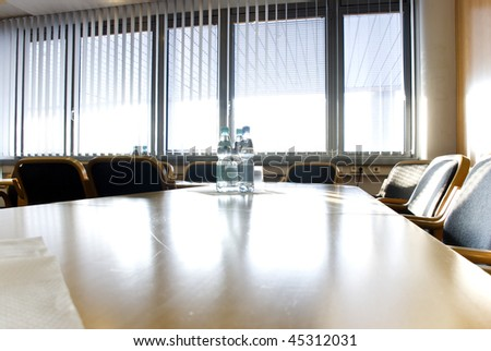 conference room with sun light