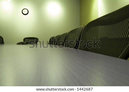 Conference Room with the empty chairs