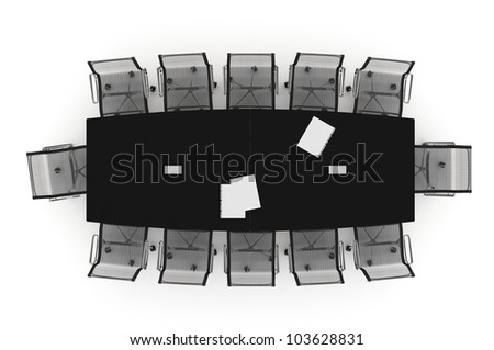 Conference Table-3d illustration