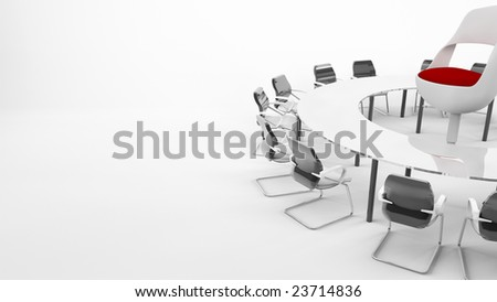 Conference Table with boss chair