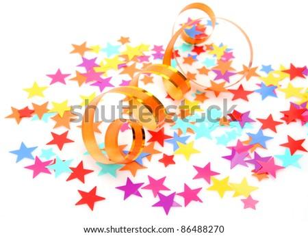 Confetti and streamer - stock photo