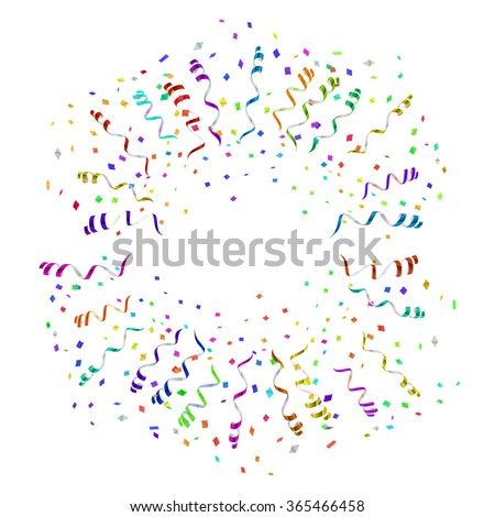 confetti blast in different directions illustration