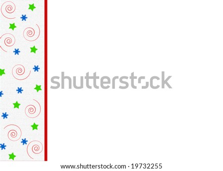 Confetti Border over white with room for copy space