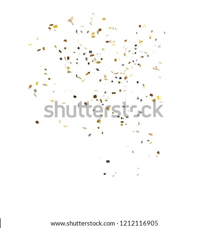 confetti on white background with part #1212116905