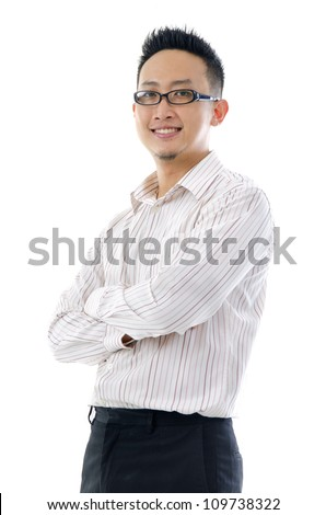confiden looking business man isolated on white background