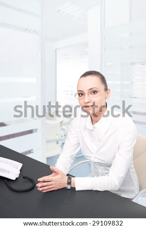 confidence business woman in modern office environment