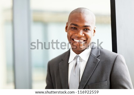 confident african american business executive portrait in office