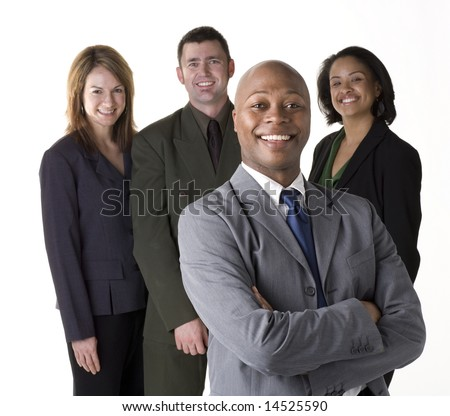 Confident and successful business team #14525590