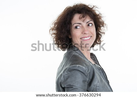 Confident beautiful isolated business woman #376630294