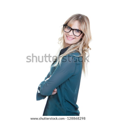 confident busines woman arms folded happy and smiling