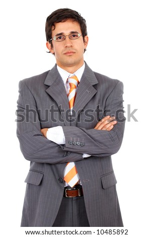 confident business man - isolated over a white background