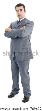 Confident Hispanic Man Standing with Arms Crossed