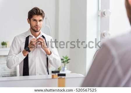 Confident man wearing formal clothing