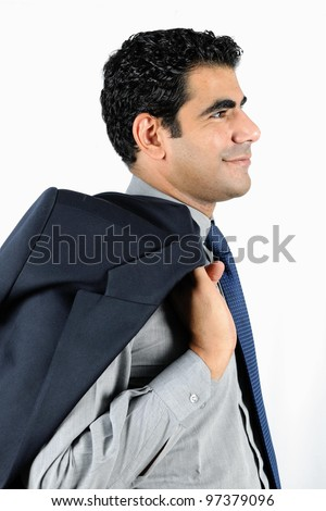 confident smiling middle eastern business man