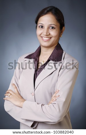 Confident young business woman