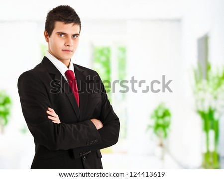 Confident young businessman portrait