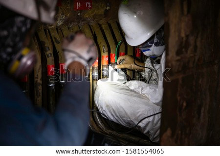 confined space, welding inspection during maintenance, tube boiler welding in the boiler Which is a confined space and difficult to inspect by inspectors.