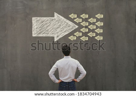 conflict of interest or confrontation, change concept, opposition Stock photo ©