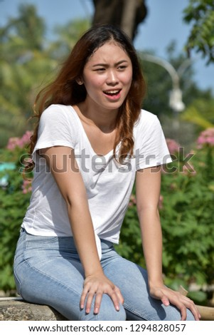 Confused Attractive Asian Female #1294828057