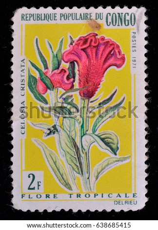 congo circa 1971  a stamp...