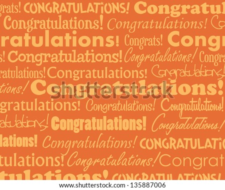 Congratulations - Grouped collection of different Congratulations text