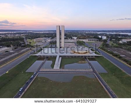 Shutterstock Congresso Nacional building located in Brasilia, Brazil