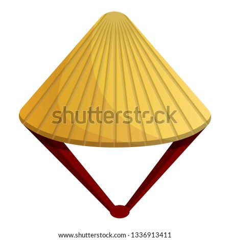 Conic hat icon. Cartoon of conic hat icon for web design isolated on white background