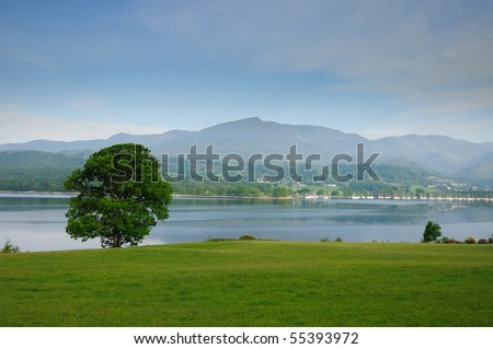 Coniston Water on a summer morning, English Lake District
