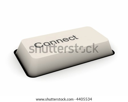 Connect - keyboard button (image can be used for printing or web)
