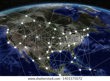 Connected cities to 5G technology Photo stock ©