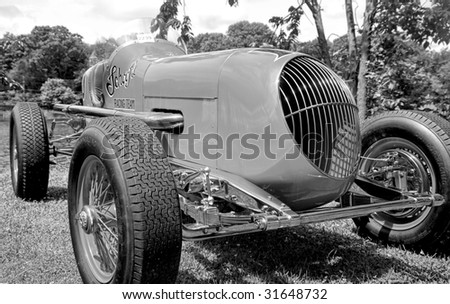 CONNECTICUT - JUNE 06: 1935 Wetteroth AAA Championship Car (1935-1949) showing at Greenwich Concours d`Elegance antique car show. June 06, 2009 in Greenwich,CT.