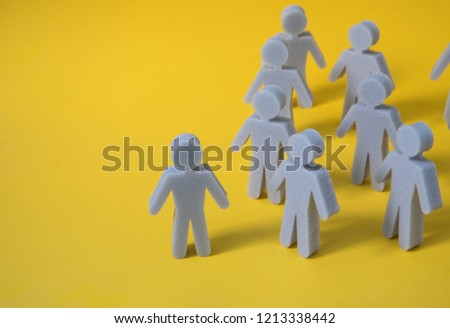 Connecting human figures. Abstract Social network concept. #1213338442