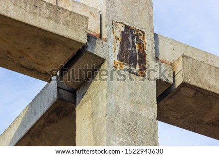 Connection of concrete structures. Concrete support structures   #1522943630