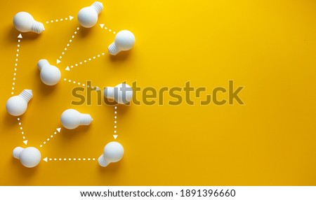 Connection of teamwork concepts with lightbulb.business communication.coppy space Foto stock ©