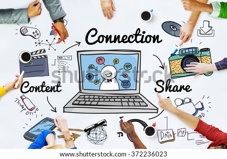 Connection Social Media Social Networking Concept