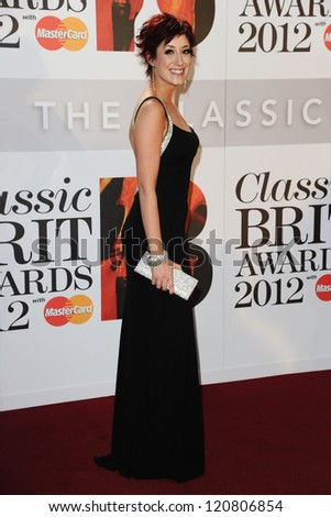 Connie Fisher arriving for the Classic Brit Awards 2012 at the Royal Albert Hall, London. 02/10/2012 Picture by: Steve Vas