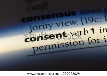 consent word in a dictionary. consent concept