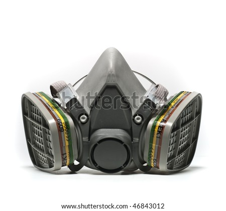 Conservation-Restoration Professional use Gas Mask isolated on white