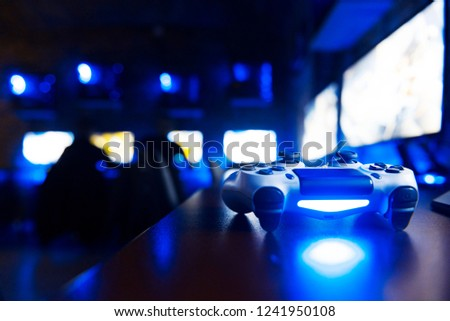 console gaming controller isolated #1241950108